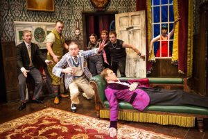 THE PLAY THAT GOES WRONG - original UK cast by Alastair Muir.