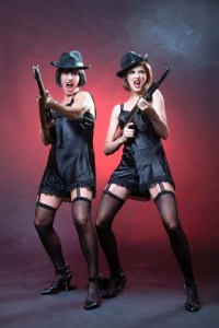 Chicago - Showgirl, Velma Kelly (Katy Moore); housewife, Roxie Hart (Jessica Sole) - Photo: Val Adamson Photography.
