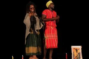 Nomakrestu Xakathugaga and Thando Mzembe in The Holy Plan B. Pic by Sithemebele Junior.
