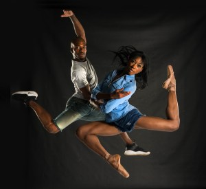 Kwazi Madlala (Vuyani Dance Theatre) & Claudia Monja (Joburg Ballet), Big City, Big Dreams. Photo Lauge Sorensen