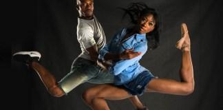 Kwazi Madlala (Vuyani Dance Theatre) & Claudia Monja (Joburg Ballet), Big City, Big Dreams. Photo Lauge Sorensen