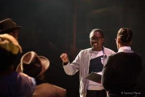 Multi-award winning director Aubrey Sekhabi working with the cast of Sophiatown