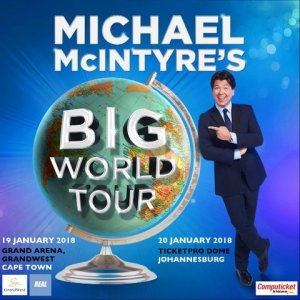 Michael McIntyre returns to South Africa in 2018 with his Big World Tour.