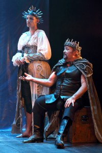 Callum Tilbury as GERTRUDE and Michael Richard as CLAUDIUS