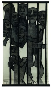 Dumile Feni | Children under Apartheid | 1987 | charcoal | 247.5 x 133 cm | Photograph: Nina Lieska | Repro Pictures