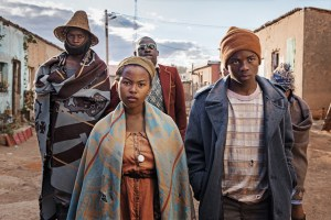 Ntsika Tiyo, Vuyo Novokoza, Sibusiso Bottoman, Toka Mtabane Abongile Sithole and Qhawe Soroshi in FIVE FINGERS FOR MARSEILLES.