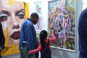 Turbine Art Fair - Man with Child