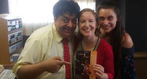 Renos Spanoudes with Frances Slabolepszy and Kirsten Harris