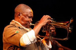 Hugh Masekela starring in Song of Migration. Photographer: Ruphin Coudyzer.