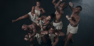 """MIDM presents an excerpt from the iconic work Stone Cast Ritual, choreographed by the legendary Sylvia """"Magogo"""" Glasser. Photo by Mark Straw."""