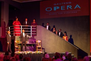 The Gauteng Opera Company in performance at Tin Town Theatre.