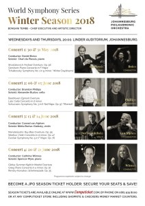 Johannesburg Philharmonic Orchestra Winter 2018 Programme