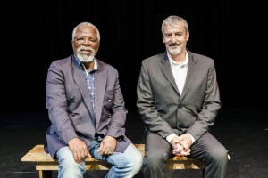 John Kani and Dawid Minaar. Photographer: Brett Rubin