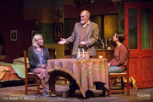 Sandra Prinsloo, Marius Weyers and Emily Child in The Road to Mecca. Photo credit: Daniel Rutland Manners