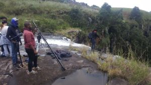 The scene of the incident at the lip of the Sterkspruit Waterfall