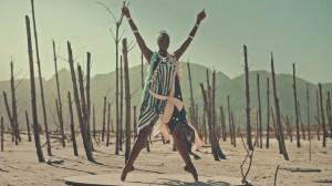 Joburg Ballet - Kitty Phetla in Rain Dance. Breaking Ballet. Photo courtesy of TBWA Hunt Lascaris