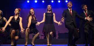 Members of the young core cast of the Woodlands Dairy Showtime Awards Revue, Let the Good Times Roll last year.