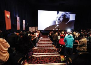 "A screening of Mandela documentary ""The State Against Nelson Mandela and the Others""."