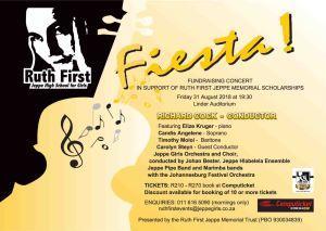 Ruth First Trust Concert 2018