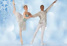 Joburg Ballet: Savannah Ireland & Mahlatse Sachane as the Snow Queen & her Cavalier in The Nutcracker (Photo: Lauge Sorensen)