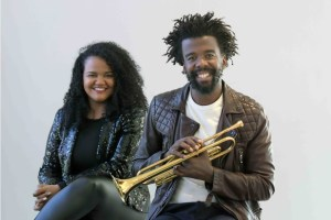 Lana Crowster & Mandisi Dyantyis (Photo by Jeffrey Abrahams)