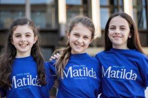The three Matildas: Kitty Harris, Morgan Santo and Lilla Fleischmann.