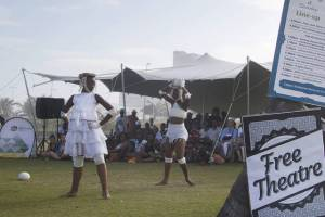 Fresha Festival 2018 - Dudlu…Dadlaza – a Dance piece by Musa Hlatshwayo and Mhayise Productions. These dancers will be doing early morning daily dance classes again this year. Photo: Harry Lock.