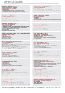 The programme for the 10th Johannesburg International Mozart Festival.