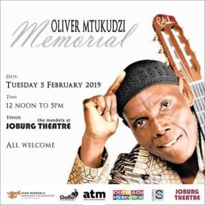 Olivier Mtukudzi Memorial at Joburg Theatre