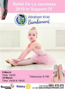 Ballet de la Jeunesse in aid of Abraham Kriel
