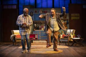John Kani and Antony Sher in KUNENE AND THE KING. Photo credit: ELLIE KURTTZ.