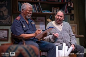 John Kani and Antony Sher in Kunene and the King. Photo credit Claude Barnardo