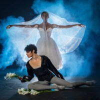 Joburg Ballet: Claudia Monja as Giselle and Leusson Muniz as Count Albrecht. Photo by Lauge Sorensen