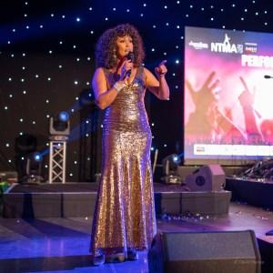Belinda Davids performs at the UK's National Tribute Music Awards ©David Garcia