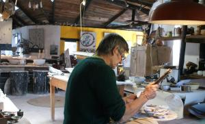 Andrew Walford in his studio