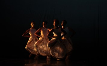 """Elements"" choreographed by Jayesperi Moopen with the Tribhangi Dance Theatre in collaboration with the Cape Dance Company. Photograph: John Hogg/Dance Umbrella."