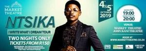 Ntsika - I Write What I Dream Tour - Market Theatre