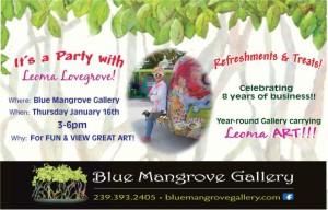 Blue Mangrove Gallery Flier
