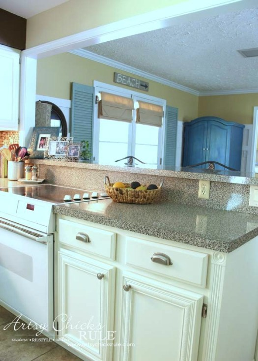 Kitchen Cabinet Makeover With Chalk Paint Easy Artsysrule