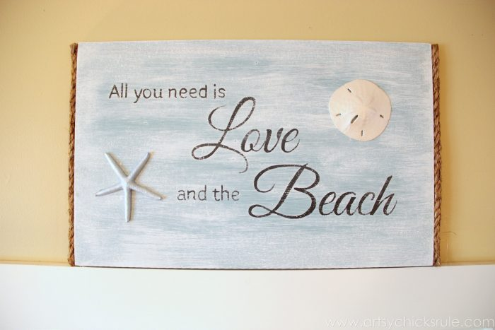 Download All You Need Is Love & the Beach (Thrifty Sign Tutorial ...