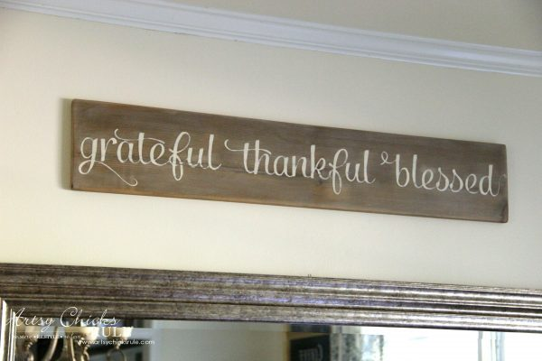 Grateful Thankful Blessed DIY Weathered Sign Artsy