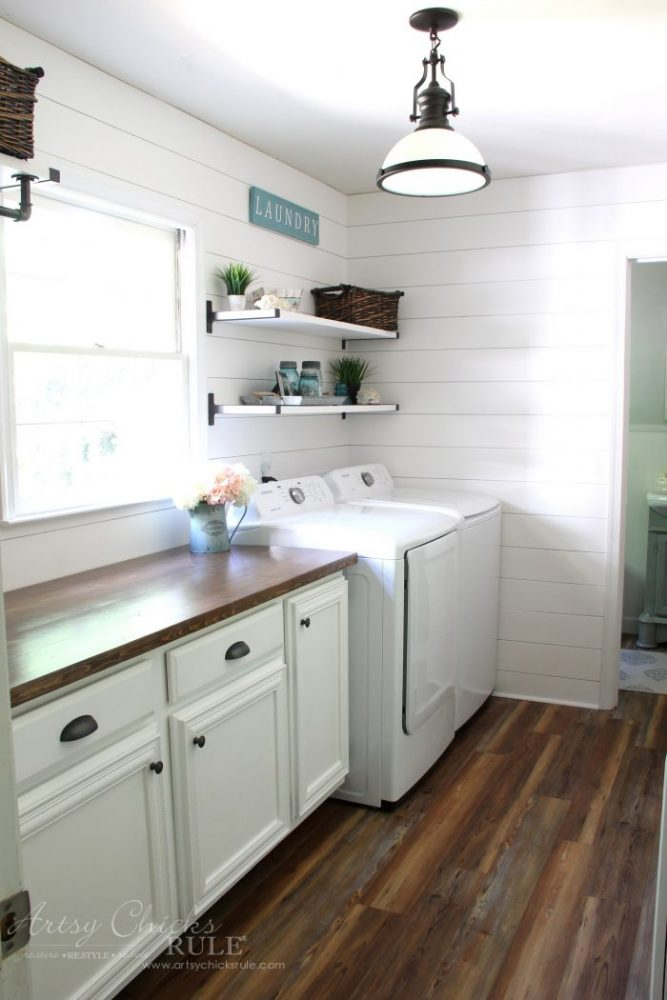 How To Make A DIY Wood Countertop - Artsy Chicks Rule® on Farmhouse Countertops  id=11330
