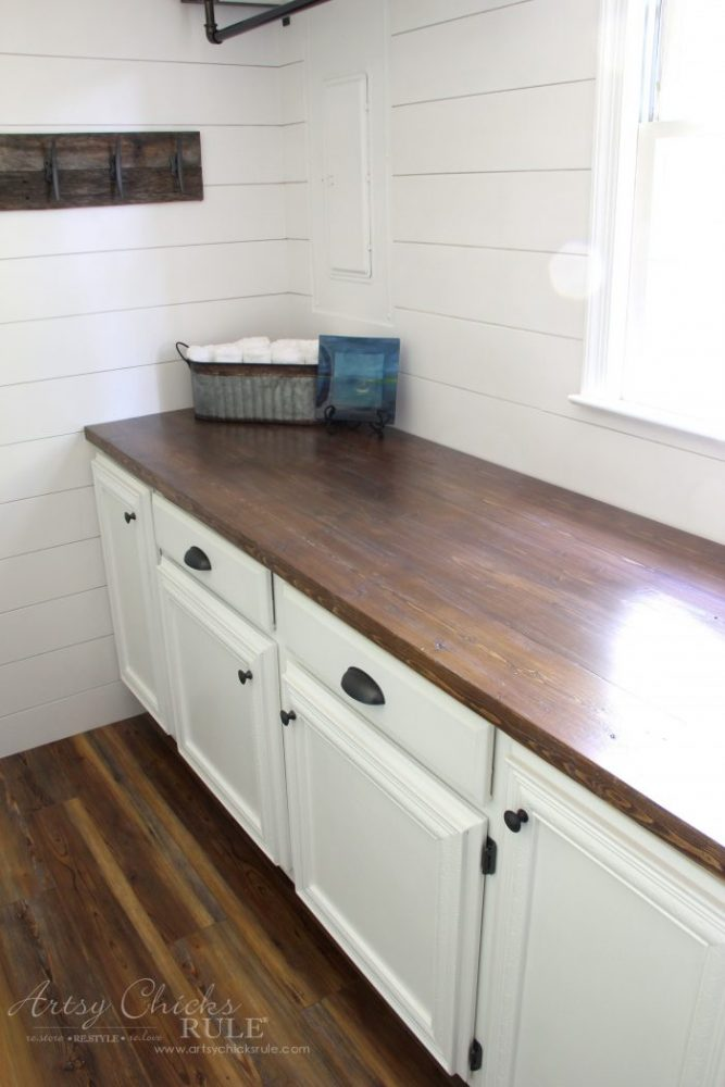 How To Make A DIY Wood Countertop (easier than you thought ... on Farmhouse Countertops  id=71598