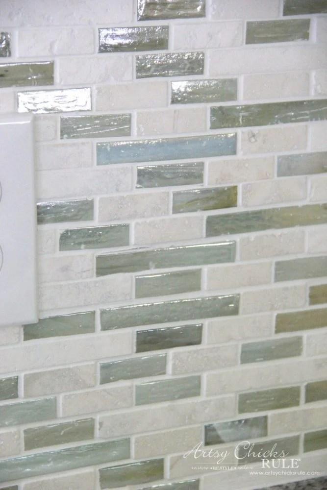 coastal inspired diy tile backsplash