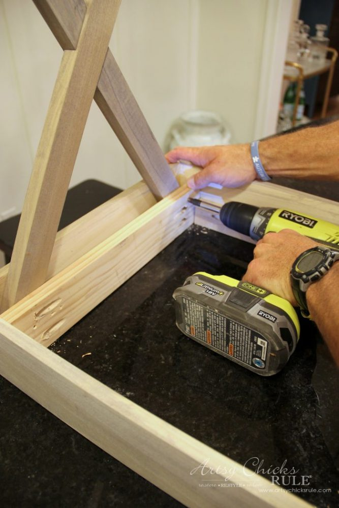 how to build criss cross end tables