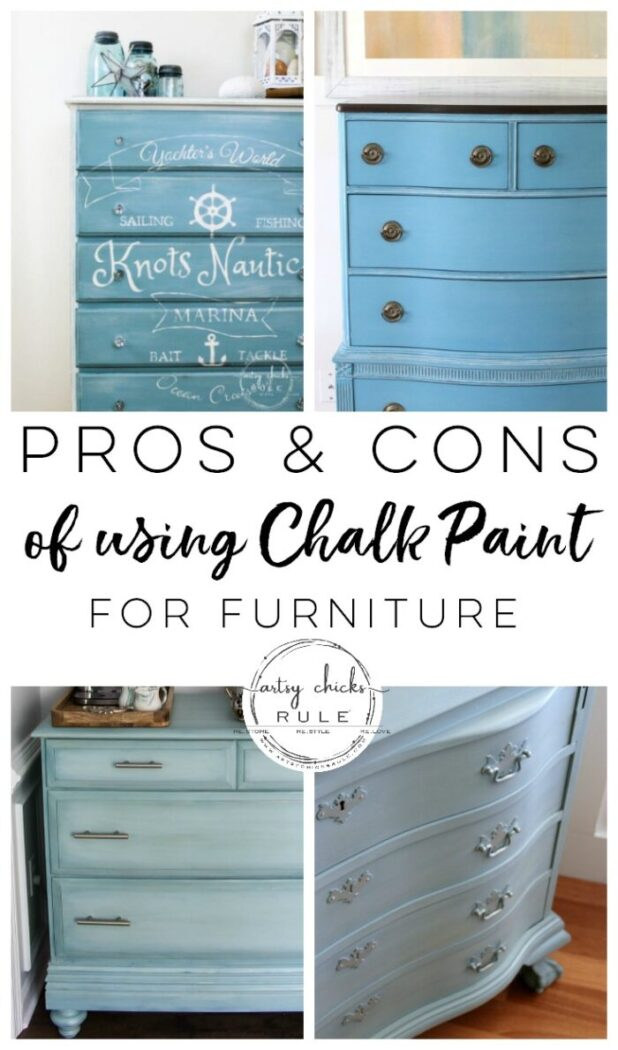 Pros And Cons Of Chalk Paint For Furniture And Some Of My Favorite Makeovers Artsy Chicks Rule