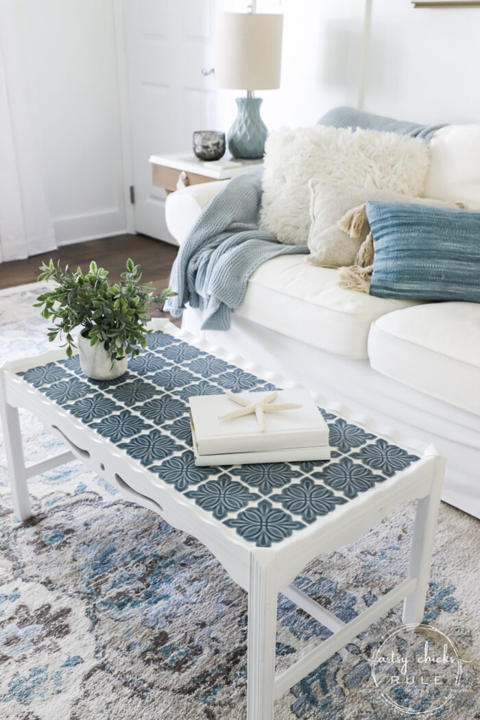 how to tile a table top or other