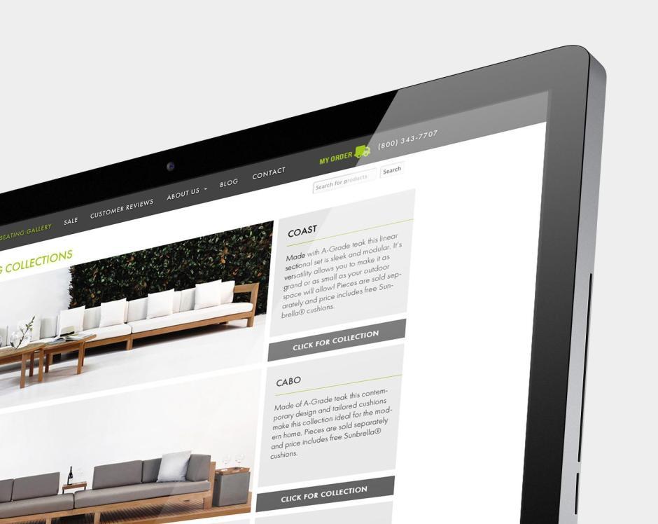 Teak Warehouse individual product page