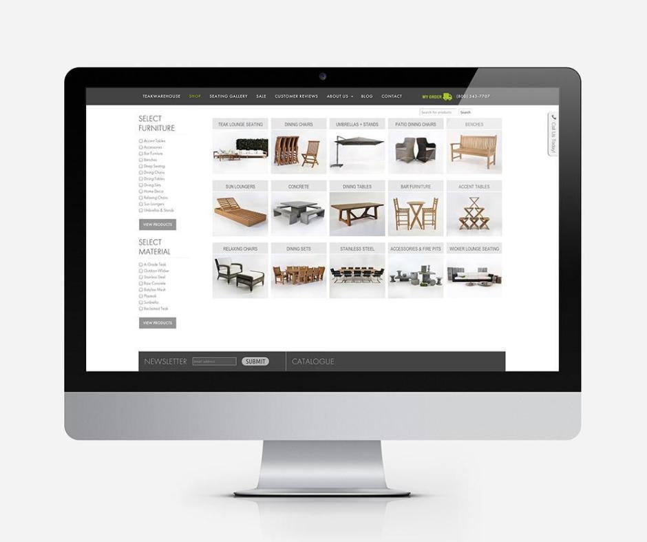 Teak Warehouse online store