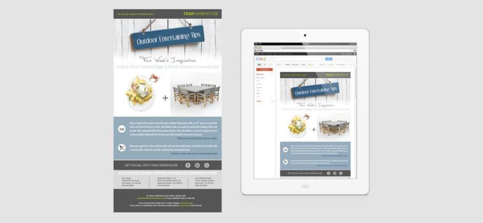 Teakwarehouse Mailchimp Design